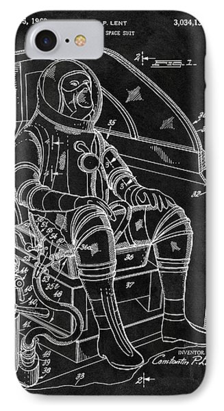 Apollo Space Suit Patent IPhone Case by Dan Sproul