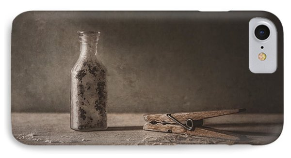 Apothecary Bottle And Clothes Pin IPhone Case by Scott Norris