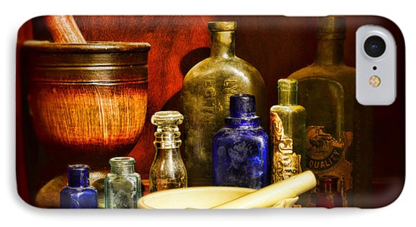 Apothecary - Tools Of The Pharmacist IPhone Case by Paul Ward