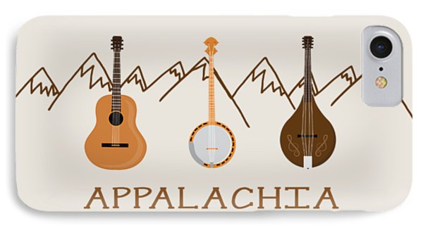 IPhone Case featuring the digital art Appalachia Mountain Music by Heather Applegate