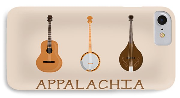 IPhone Case featuring the digital art Appalachia Music by Heather Applegate