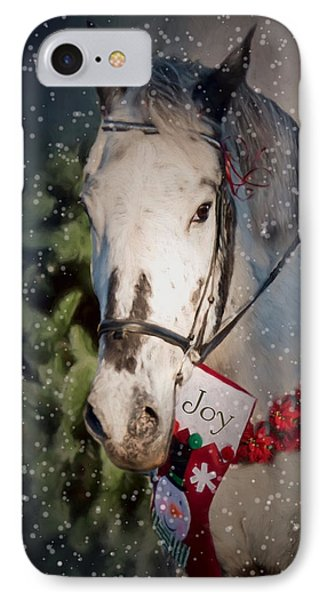 IPhone Case featuring the photograph Appaloosa Christmas by Robin-Lee Vieira