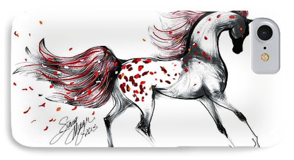 Appaloosa Rose Petals Horse IPhone Case