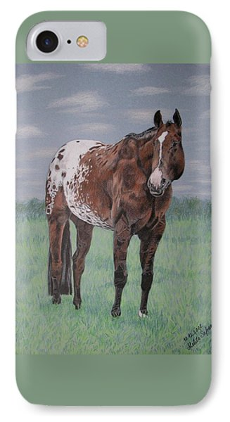 IPhone Case featuring the drawing Appaloosa by Melita Safran