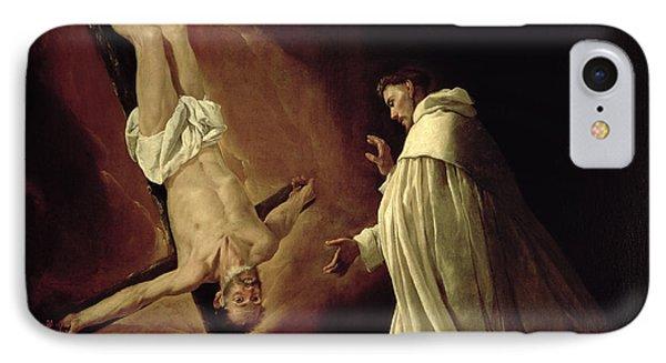 Appearance Of Saint Peter To Saint Peter Nolasco Phone Case by Francisco de Zurbaran