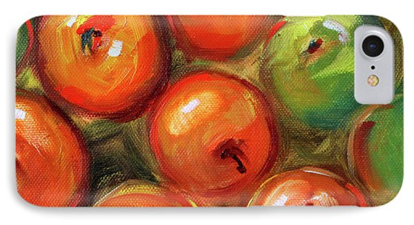IPhone 7 Case featuring the painting Apple Barrel Still Life by Nancy Merkle
