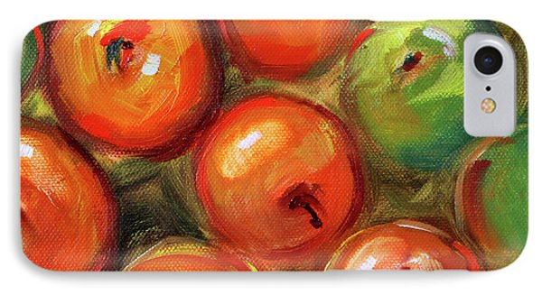 IPhone Case featuring the painting Apple Barrel Still Life by Nancy Merkle