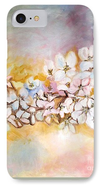 IPhone Case featuring the painting Apple Blooms by Donna Dixon