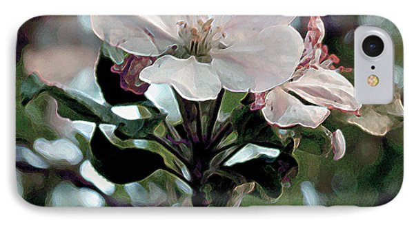 IPhone Case featuring the painting Apple Blossom Time by RC DeWinter