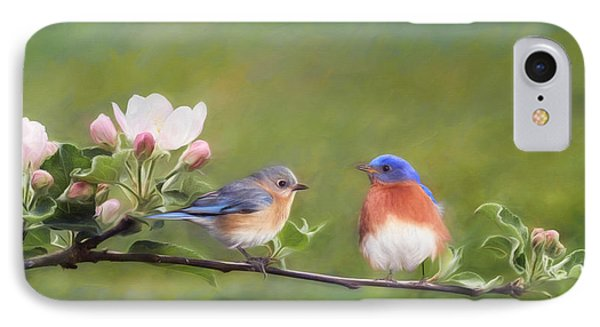 Apple Blossoms And Bluebirds IPhone 7 Case