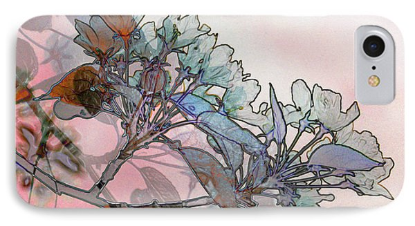 IPhone Case featuring the digital art Apple Blossoms by Stuart Turnbull