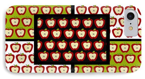 IPhone Case featuring the digital art Apple For The Teacher- Cute Art by KayeCee Spain