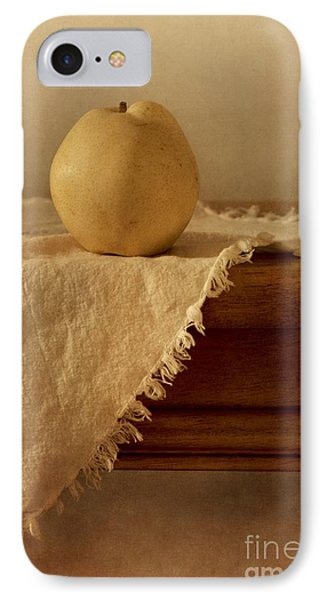 Apple Pear On A Table IPhone Case by Priska Wettstein
