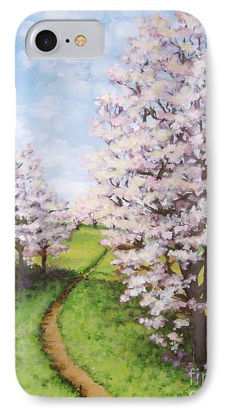 Apple Trees Along The Path IPhone Case by Inese Poga