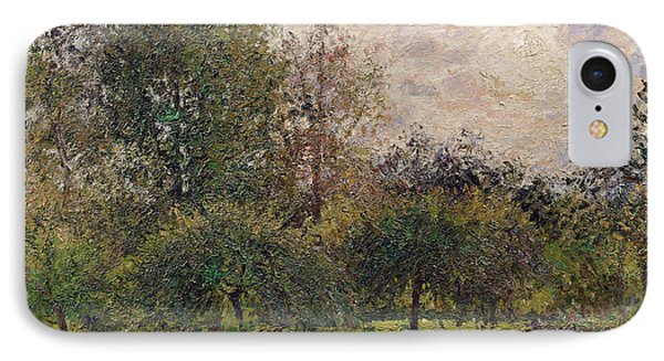 Apple Trees And Poplars In The Setting Sun IPhone Case by Camille Pissarro