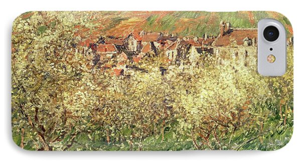Apple Trees In Blossom IPhone 7 Case by Claude Monet