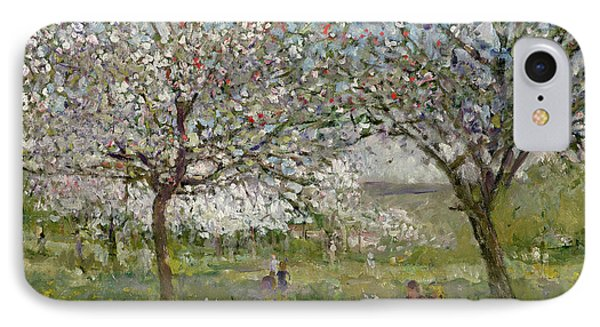 Apple Trees In Flower Phone Case by Ernest Quost