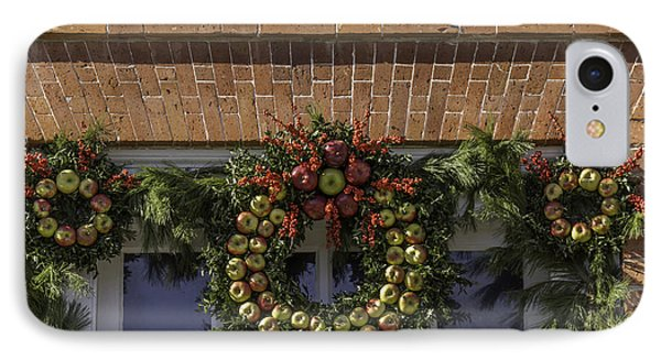 Apple Wreaths At The George Wythe House IPhone Case by Teresa Mucha