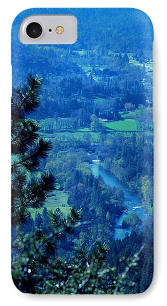 IPhone Case featuring the photograph Applegate River From On Top Of Bolt Mountain by Marie Neder