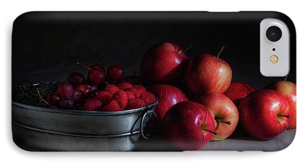 Raspberry iPhone 7 Case - Apples And Berries Panoramic by Tom Mc Nemar