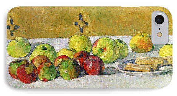 Apples And Biscuits IPhone Case by Paul Cezanne