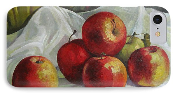 IPhone Case featuring the painting Apples by Elena Oleniuc