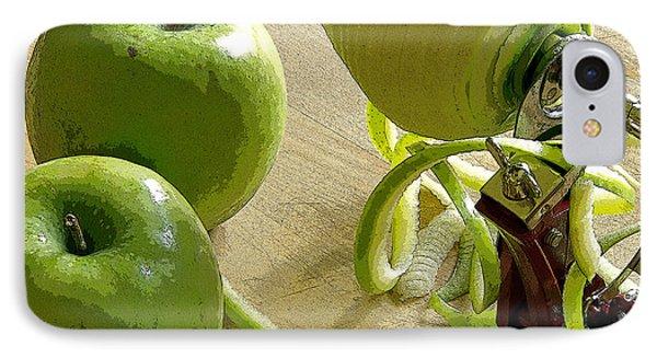 Apples Getting Peeled IPhone Case by Debra Baldwin