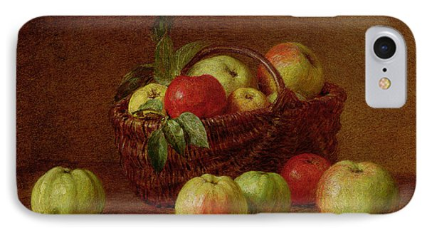 Apples In A Basket And On A Table IPhone Case by Ignace Henri Jean Fantin-Latour