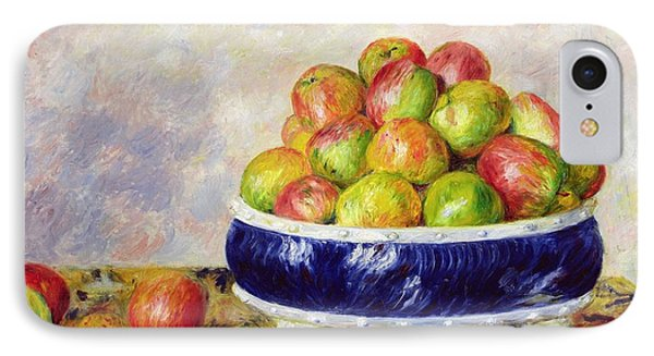 Apples In A Dish Phone Case by  Pierre Auguste Renoir