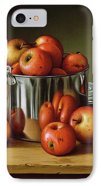 Apples In A Tin Pail IPhone Case by Levi Wells