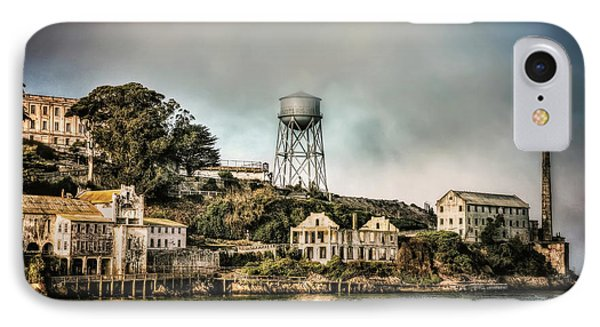 Approaching Alcatraz Island And Water Tower  IPhone Case