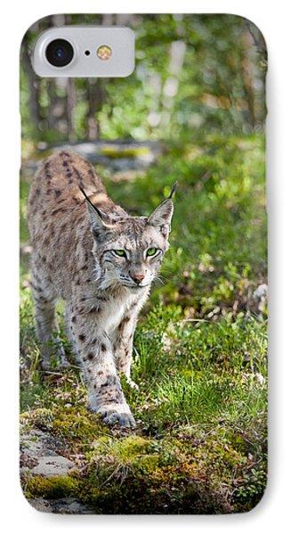Approaching Lynx IPhone Case by Yngve Alexandersson