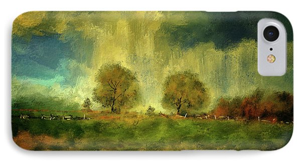 IPhone Case featuring the digital art Approaching Storm At Antietam by Lois Bryan
