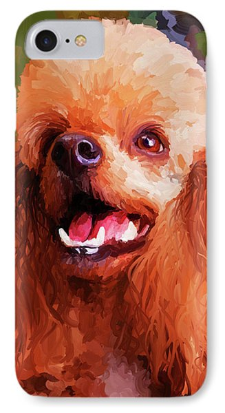 Apricot Poodle Phone Case by Jai Johnson