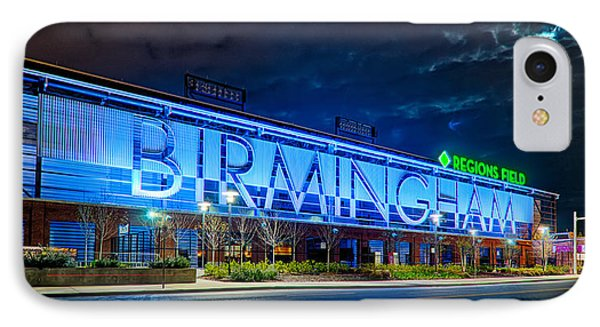April 2015 -  Birmingham Alabama Baseball Regions Field At Night IPhone Case