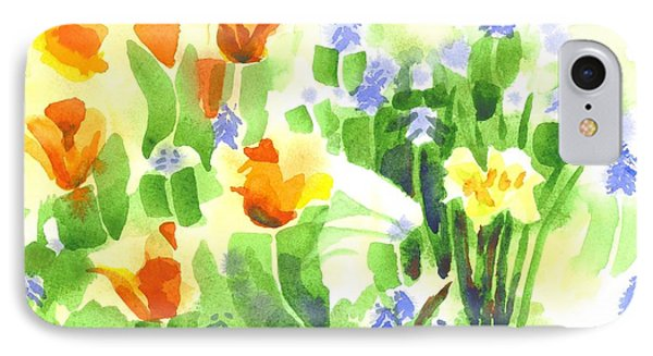 IPhone Case featuring the painting April Flowers 2 by Kip DeVore