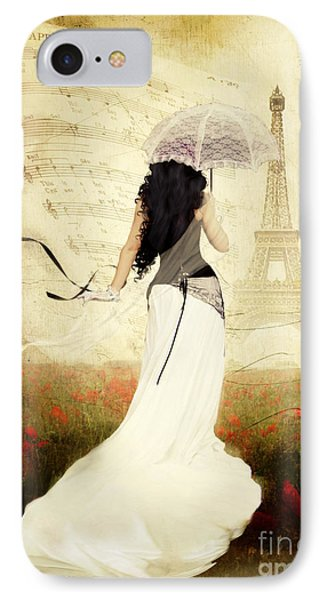 April In Paris Phone Case by Shanina Conway