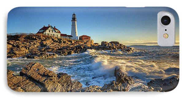 April Morning At Portland Head IPhone Case by Rick Berk