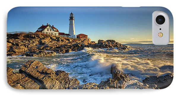 April Morning At Portland Head IPhone Case