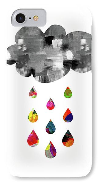 IPhone Case featuring the mixed media April Showers- Art By Linda Woods by Linda Woods