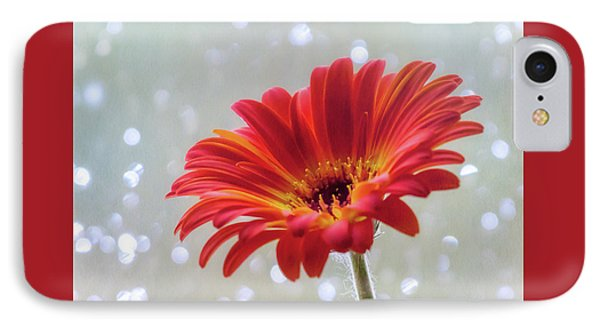 IPhone Case featuring the photograph April Showers Gerbera Daisy Square by Terry DeLuco