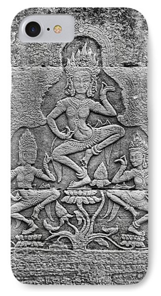 IPhone 7 Case featuring the photograph Apsaras 3, Angkor, 2014 by Hitendra SINKAR