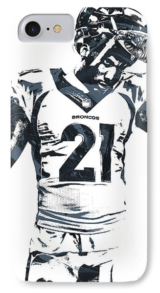 Aqib Talib Denver Broncos Pixel Art IPhone Case by Joe Hamilton
