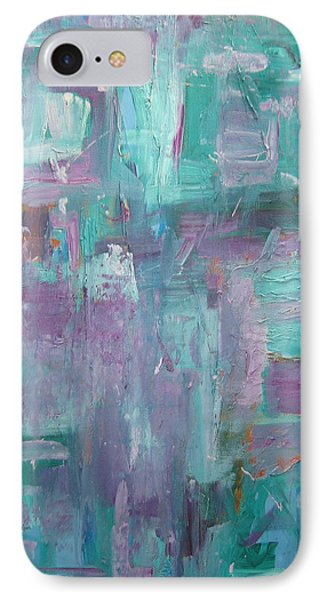 Aqua And Violet Enigma IPhone Case by John Keaton