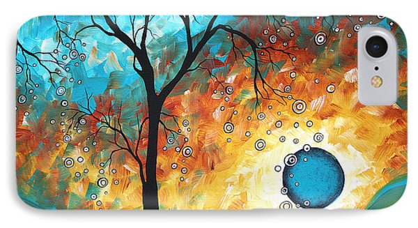 Aqua Burn By Madart IPhone Case by Megan Duncanson