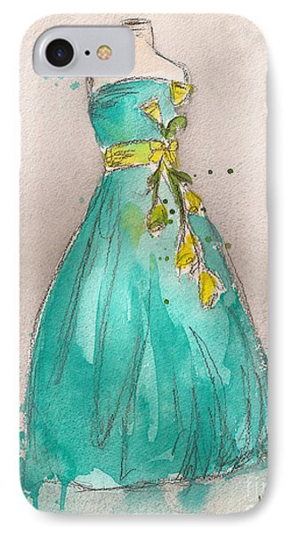 Aqua Dress Phone Case by Lauren Maurer