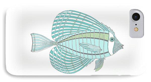 Aqua Fish IPhone Case by Stephanie Troxell