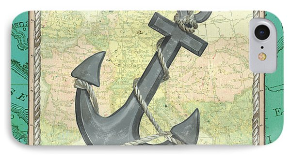 Aqua Maritime Anchor IPhone Case