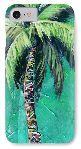 Aqua Palm IPhone Case by Kristen Abrahamson