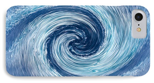 Aqua Swirl IPhone Case by Keith Armstrong